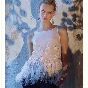 NWOT Anthropologie Feathered Fringe blouse